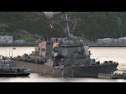 USS Fitzgerald Returns To Port After Collision At Sea