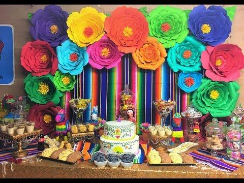 Fiesta tematica mexicana 2017 mesa de dulces mexican party for Decoracion mexicana