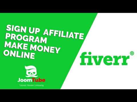 How to Sign Up Fiverr Affiliate Program    Make Money on Fiverr 2018 by JoomTube