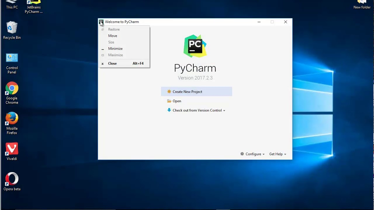 Uninstall JetBrains PyCharm 2017 (Pro Edition) on Windows 10 Creators Update