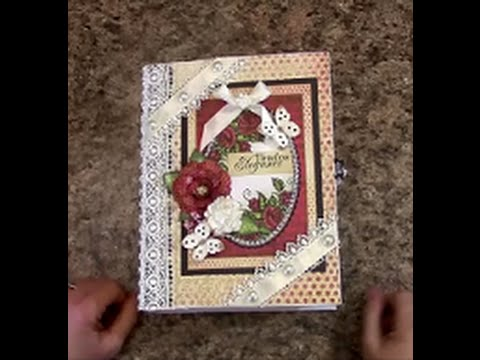 PART 1   TUTORIAL 7 X 9 MINI ALBUM with HEARTFELT CREATIONS ALL GLAMMED UP PAPER   DESIGNS BY SHELL