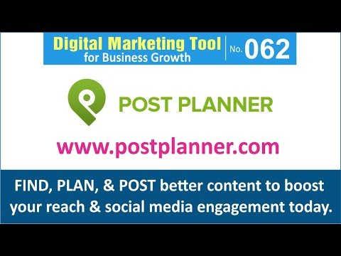 Digital Marketing Tool for Business Growth [062] | Post Planner: Social Media Engagement App