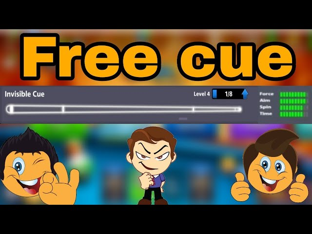 8 BALL POOL FREE INVISIBLE CUE || upgrade invisible cue to max level