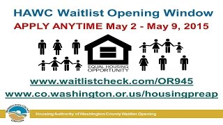 Housing Authority of Washington County Waitlist