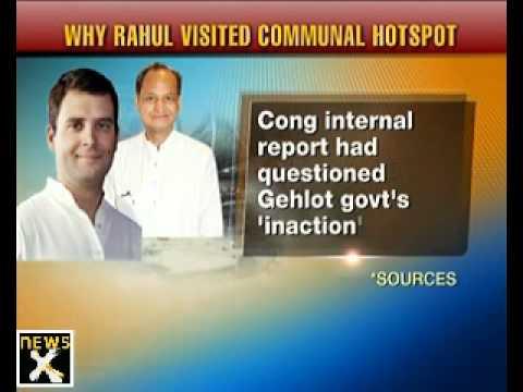 Rahul Gandhi visits riot victims in Bharatpur