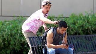 Shaving Strangers Hair Prank