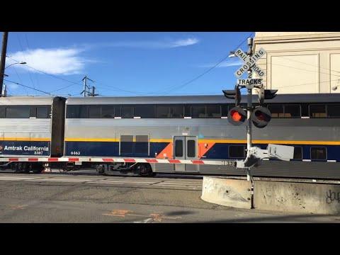 Amtrak CDTX 2015 Capitol Corridor, Martin Luther King Jr Way Crossing, Oakland CA