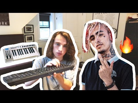 Making a LIL PUMP beat using ESKETIT sounds