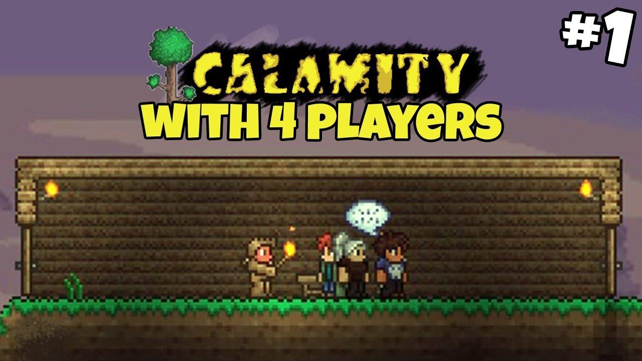 Calamity Mod with 4 Players - Terraria CALAMITY MOD Gameplay - Part 1