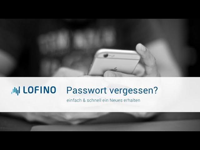 Passwort vergessen? - ganz einfach zurücksetzen