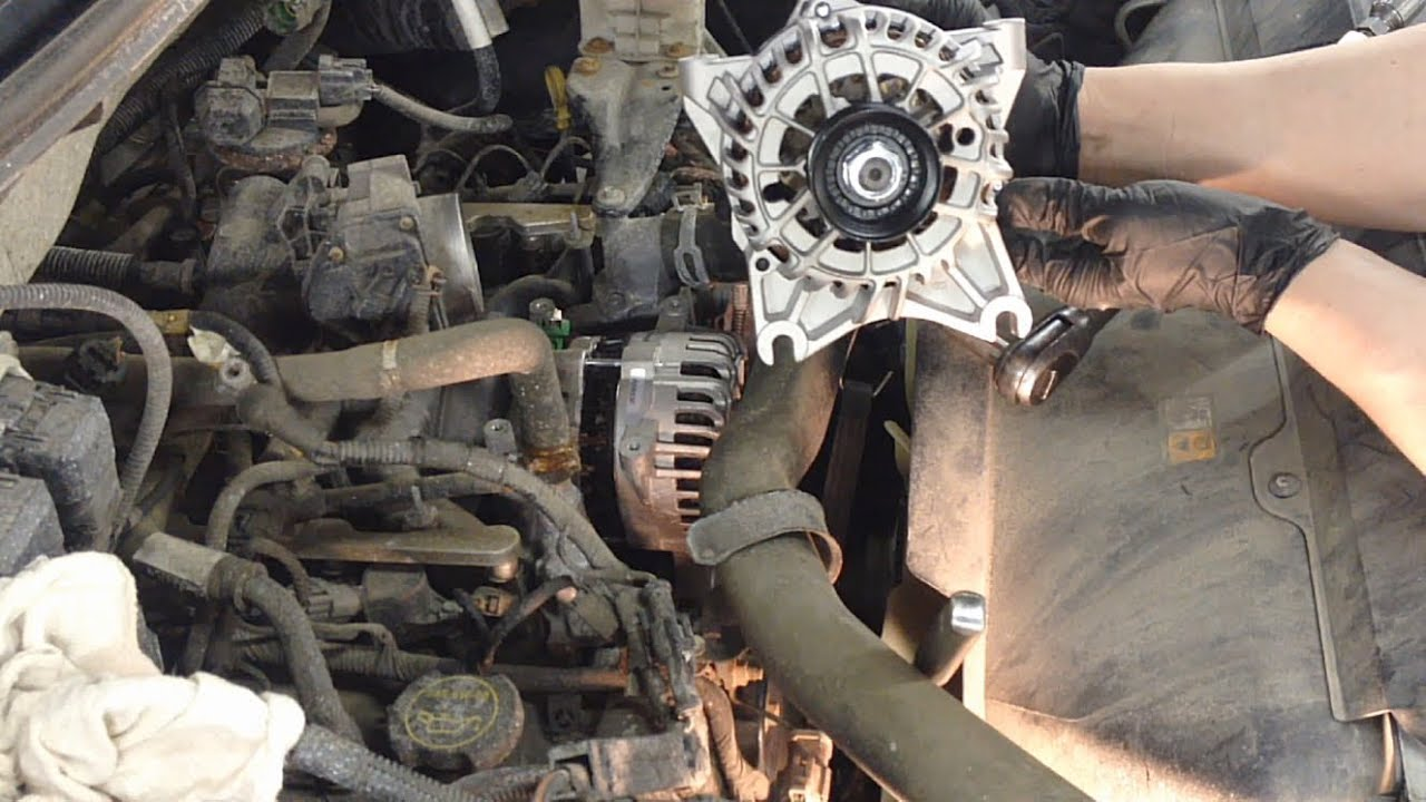 maxresdefault ford 4 6l & 5 4l engines alternator replacement youtube  at bakdesigns.co