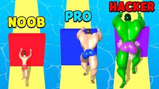 NOOB vs PRO vs HACKER - Muscle Race 3D screenshot 1