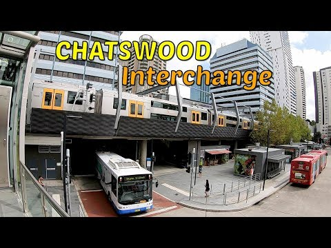 CHATSWOOD Station - Train Station & Bus Interchange - CHATSWOOD NSW - Sydney Australia