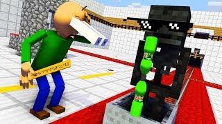Monster School : BALDI'S BASICS & BOTTLE FLIP CHALLENGE - Minecraft Animation