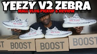YEEZY V2 ZEBRA PICKUP MALL VLOG & REVIEW