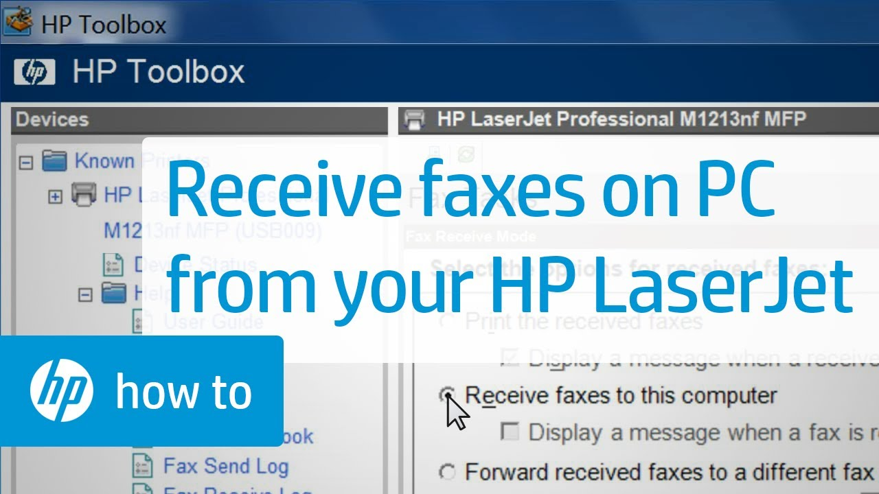Receiving Faxes on Your Computer Using Your HP LaserJet Printer ...