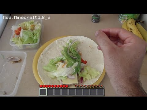 Real Life Minecraft Cooking Best Chicken Wrap Youtube
