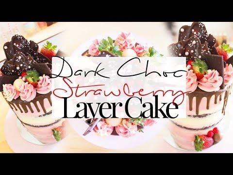 dark-chocolate-strawberry-layer-cake!
