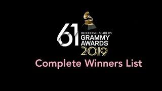 ৬১তম বার্ষিক গ্র্যামি পুরষ্কার ২০১৯ ● 61ST GRAMMY AWARDS 2019