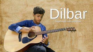 Neha Kakkar - DILBAR - percussive fingerstyle guitar cover