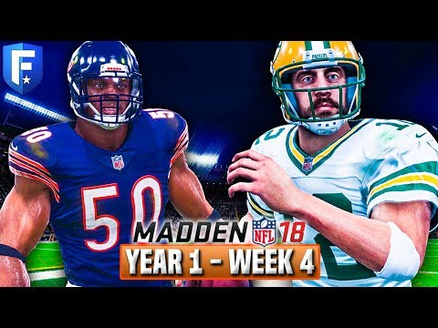 Madden 18 Bears Franchise Year 1 - Week 4 @ Packers | Ep.5