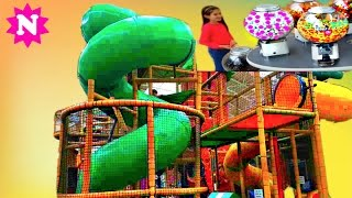 GIANT SLIDE Playground Fun for Kids Car Ride on  Naty TubeFun