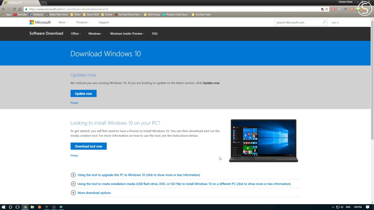 free windows 10 home iso download