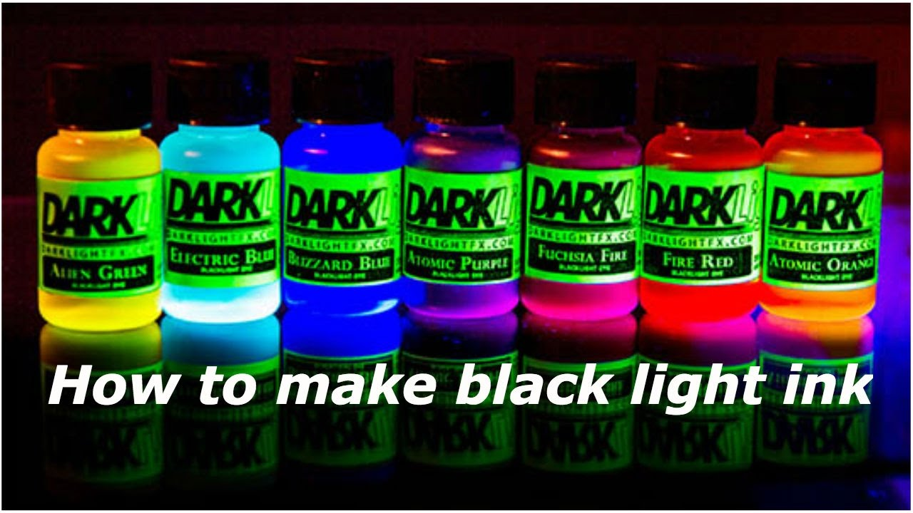 How To Make Black Light Ink At Home Ep 2 Youtube
