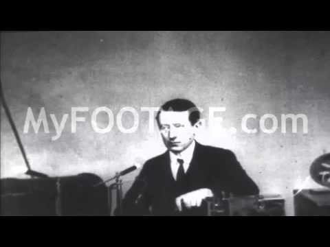 Stock Footage - Guglielmo Marconi Demonstrates Wireless Telegraph
