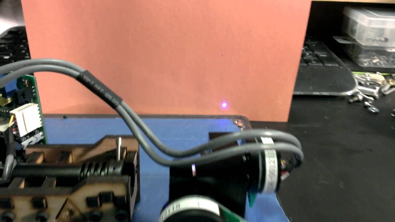 Laser galvo gcode control with Pronterface