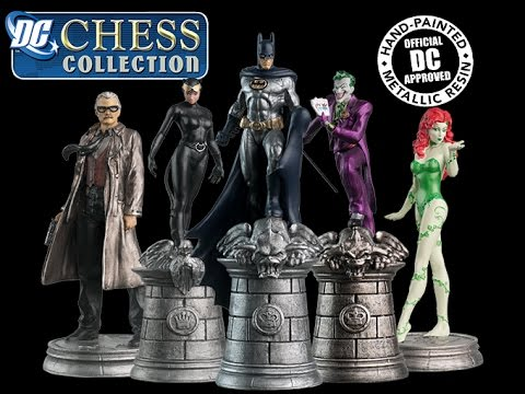 Complete Batman Chess Set and Justice League Chess Set (Eaglemoss) Bat-Chat