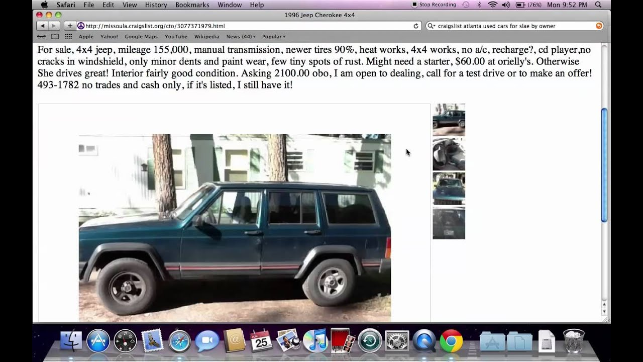 Craigslist Cars For Sale By Owner Youtube Autos Weblog