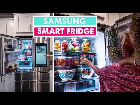 SAMSUNG TOUCHSCREEN SMART FRIDGE | Smart Home Tour Ep 03