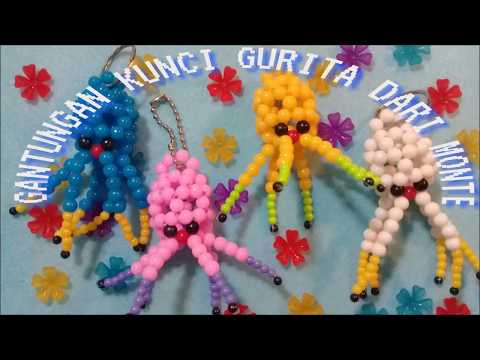 Souvenir// Gantungan Kunci Gurita Dari Monte | Beaded Octopus Key Chain