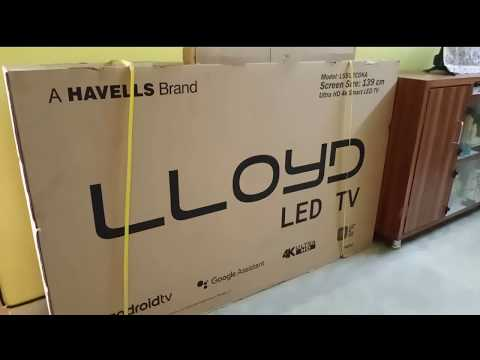 Unboxing | LLOYD LED TV | Android TV | 55 Inch | Ultra HD 4K Smart TV | In Bengali