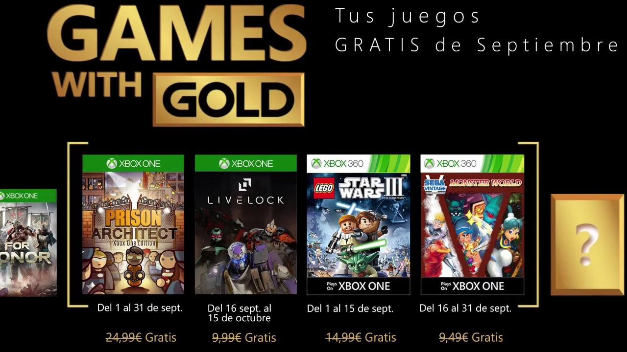 Games With Gold Juegos Gratis Septiembre 2018 Xbox One Xbox
