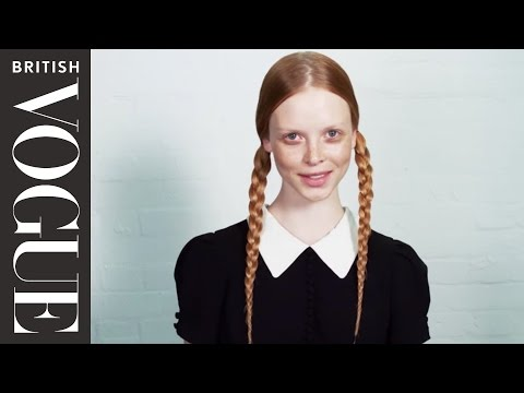 Wednesday Addams' Braids Tutorial | Makeup Tutorials & Beauty How tos | British Vogue