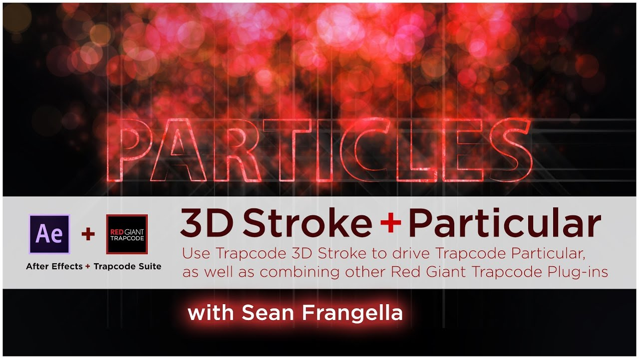 After effects 3d stroke and particular tutorial use red giant 3d stroke to generate particles youtube