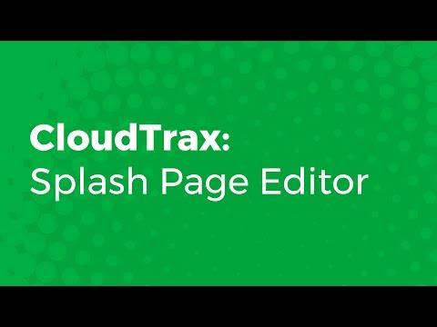 CloudTrax: Splash Page Editor