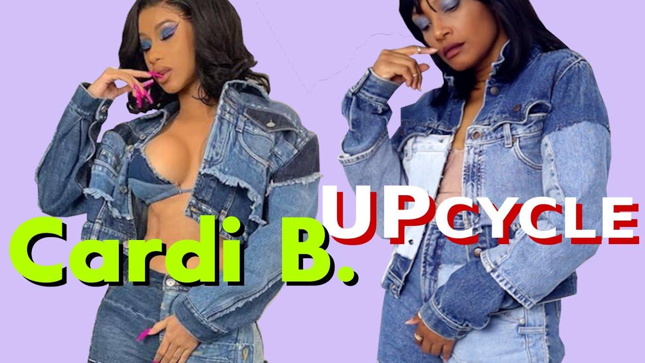 [VIDEO] - How To Make Cardi B's Denim Jeans & Jacket! | Designer Thrift Flips 3