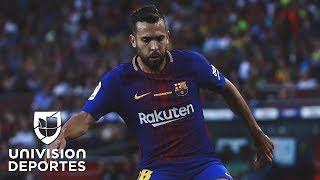 Jordi Alba elogió a Messi tras derrotar a la Juve, y Semedo no respondió si es mejor que Cristiano