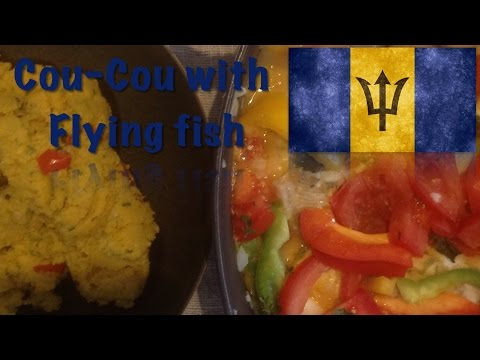 How To Cook Cou-cou With Flying Fish (The Barbadian Dish)