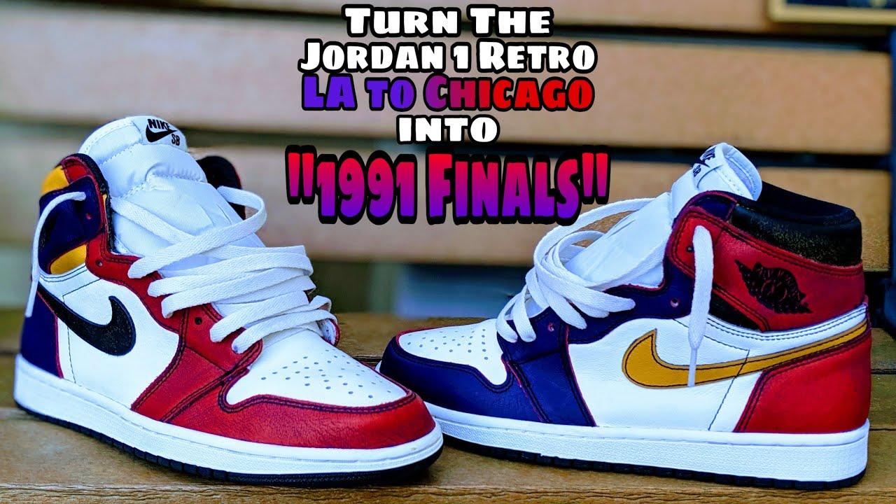 jordan 1 chicago to la