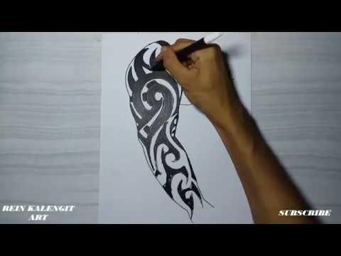 Menggambar Tatto Tribal 30 Simpel Untuk Tangan Kanan Youtube