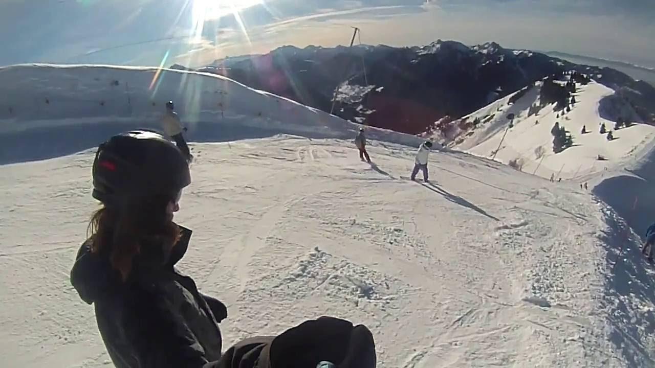 bernex ski resort - france - youtube