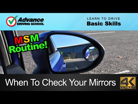 When To Check Your Mirrors  |  Learn to drive: Basic skills