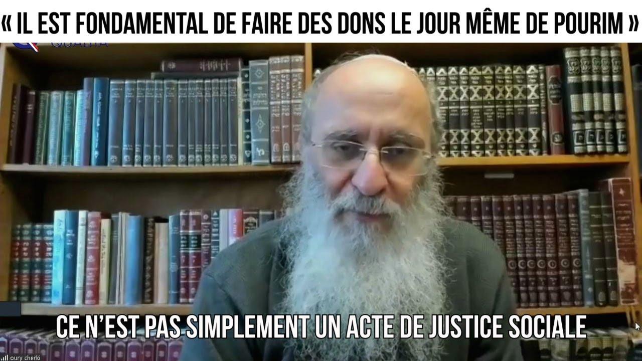 « Il est fondamental de faire des dons le jour même de Pourim »