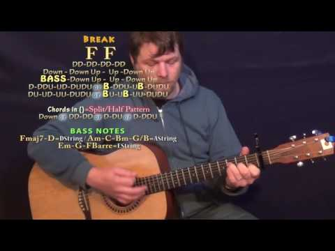 Sober Saturday Night (Chris Young) Guitar Lesson Chord Chart  - Capo 1st C F G Am E