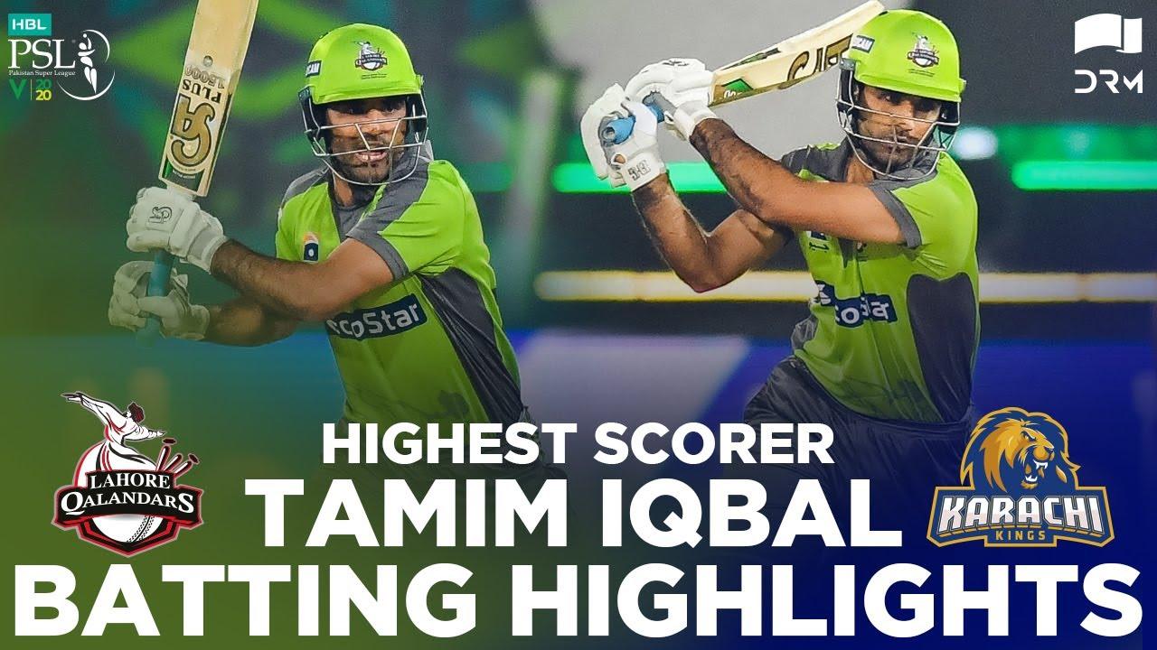 Download Highest Scorer Tamim Iqbal Batting Highlights   Lahore vs Karachi   Final Match   HBL PSL 2020  MB2E