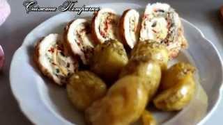 картофель. Картофель с травами и чесноком, запеченный в духовке